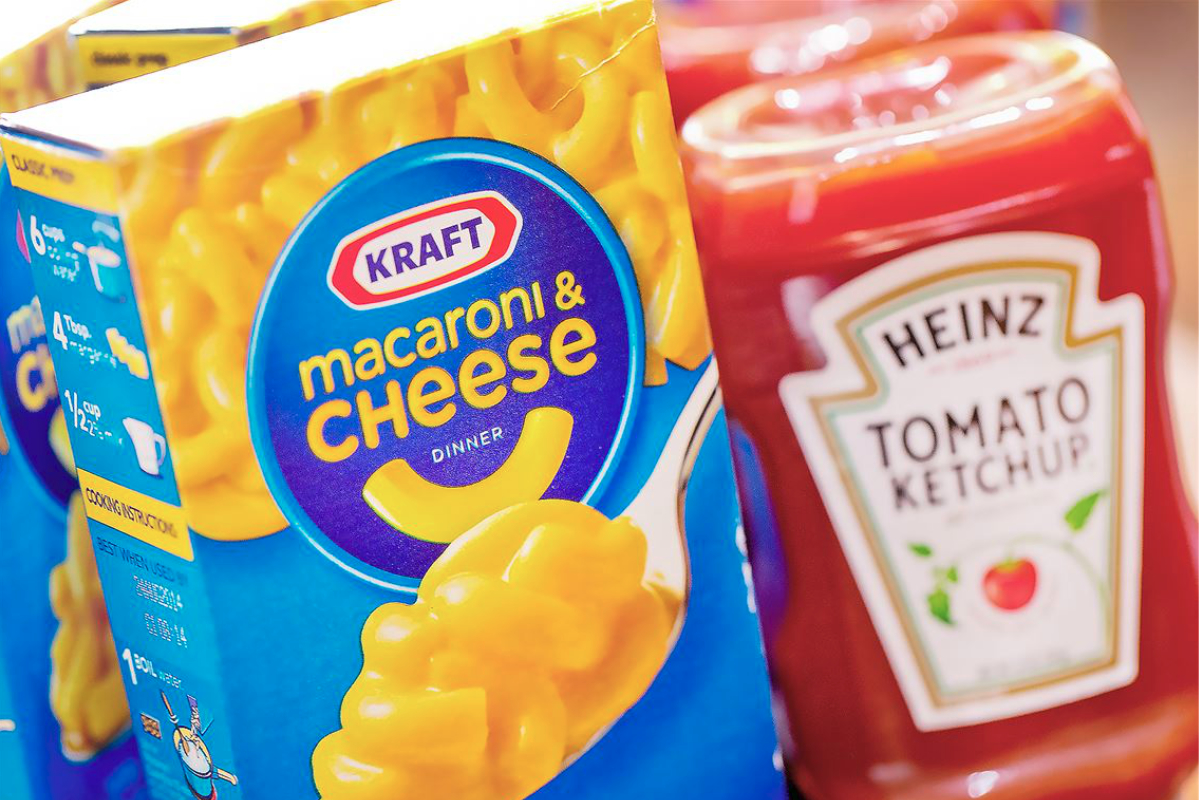 Kraft macaroni and cheese, Heinz ketchup, Kraft Heinz