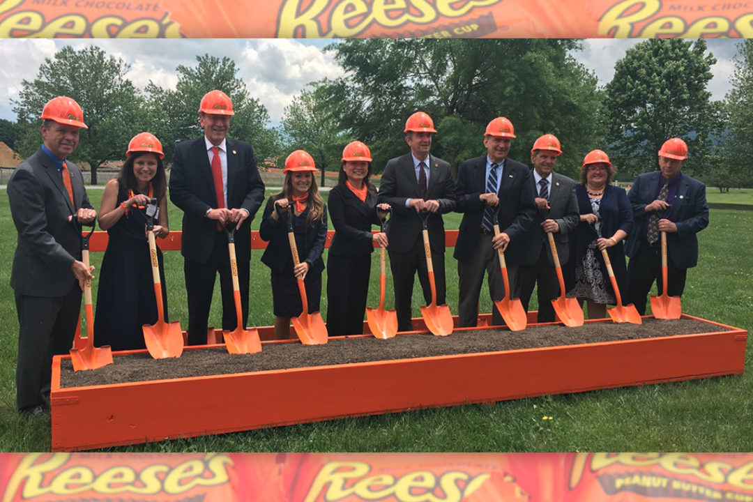 Groundbreaking of new Reese's expansion at Hershey plant in Stuarts Draft, VA