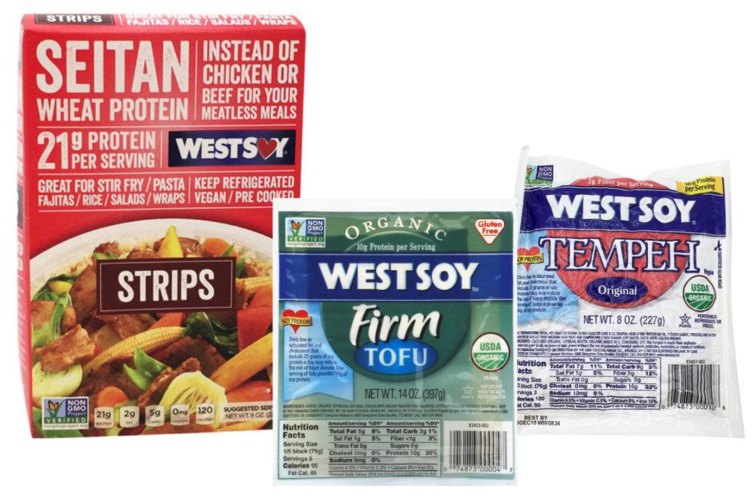 WestSoy tofu, seitan and tempeh