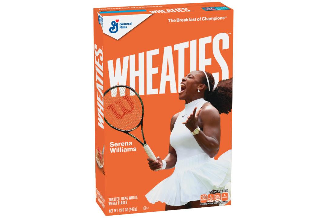 Serena Williams Wheaties box, General Mills