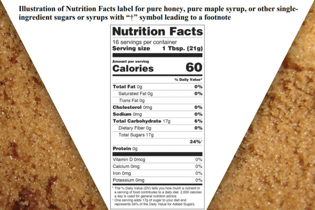 New added sugars label