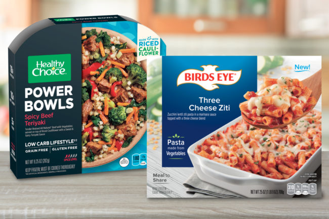 Healthy Choice grain-free Power Bowls and Birds Eye vegetable pasta, Conagra Brands