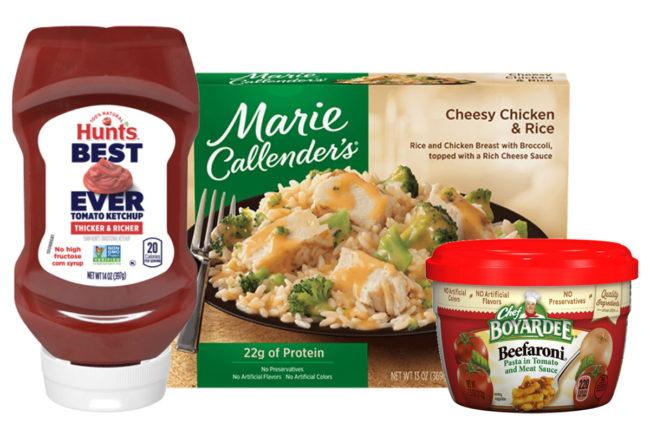 Hunt's ketchup, Marie Callendar's meal, Chef Boyardee,Conagra Brands
