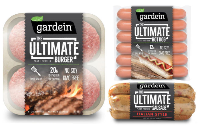 Gardein plant-based meat alternative products