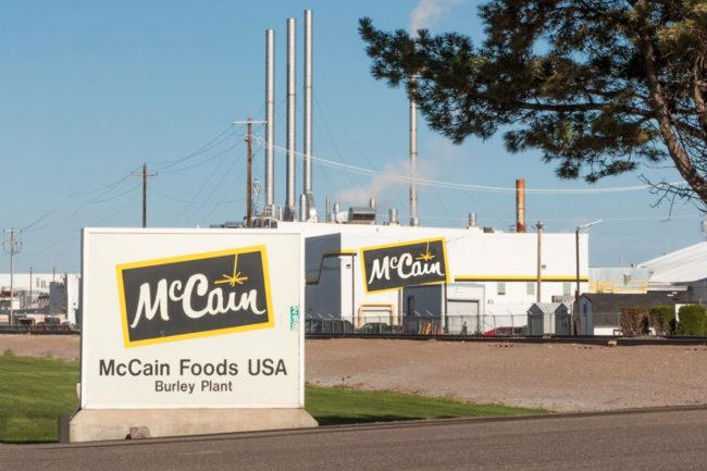 McCain Foods plant in Burley, Idaho