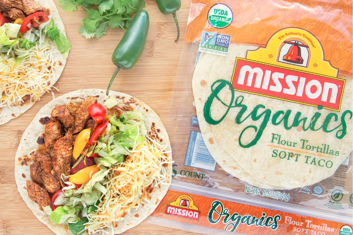 Mission Organics flour tortillas