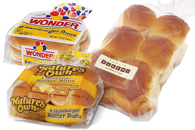Flowers Foods hamburger and hotdog buns and other baked foods