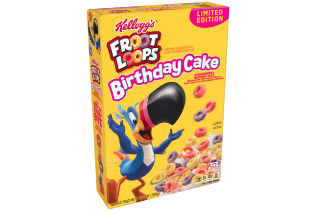 Froot Loops Birthday Cake cereal, Kellogg