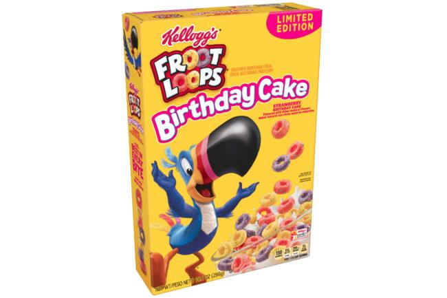 Froot Loops Birthday Cake cereal, Kellogg