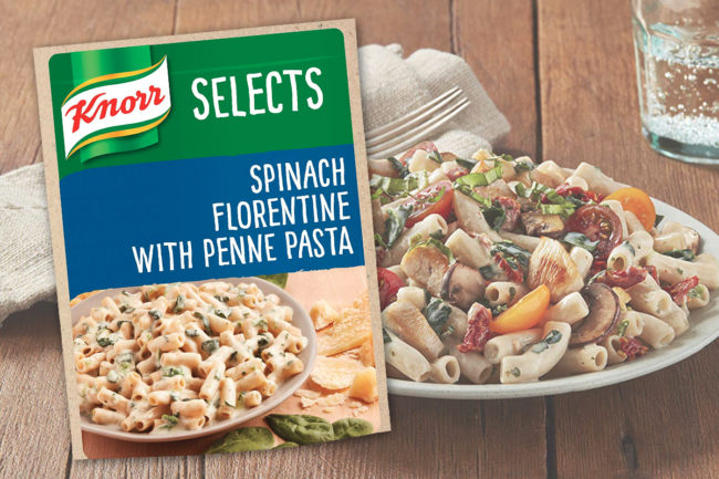 Knorr Selects Spinach Florentine with Penne Pasta, Unilever