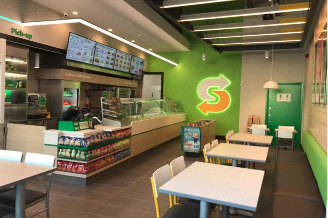 New Subway restaurant design