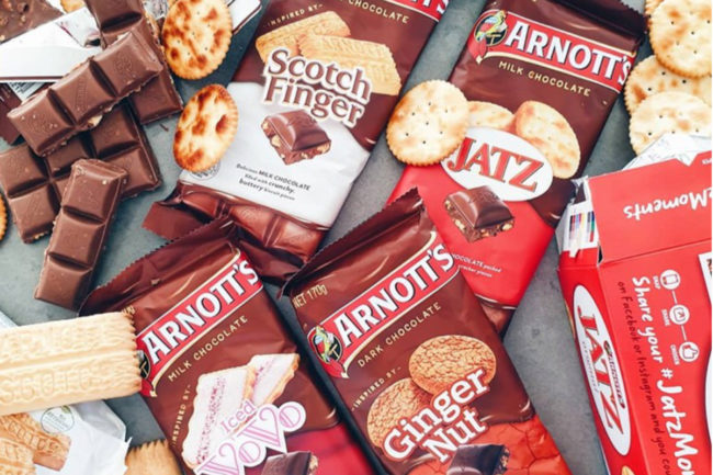 Arnott's biscuits and cookies