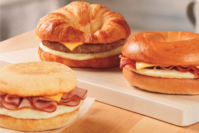Dunkin' breakfast sandwiches