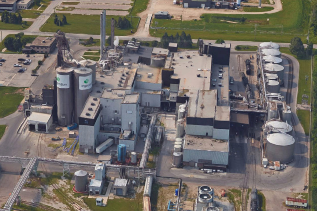 Ingredion corn processing plant