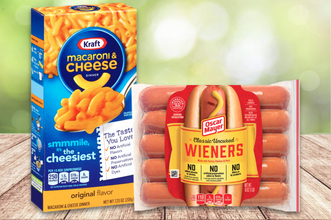 Kraft Macaroni & Cheese and Oscar Mayer hot dogs, Kraft Heinz