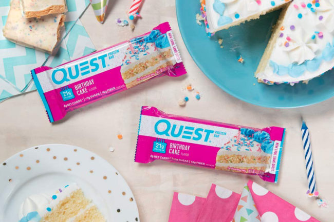 Birthday cake Quest bars