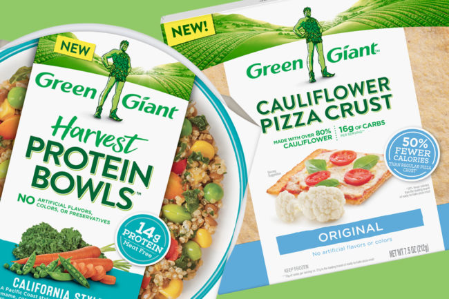 B&G Foods Inc. cauliflower pizza crust and Green Giant harvest protein bowls