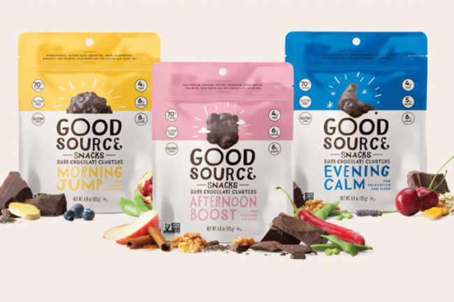 Good Source Foods functional chocolate clusters