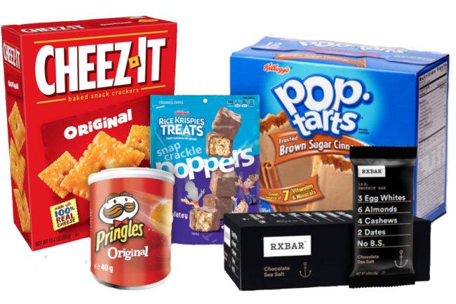 Kellogg's power brands Cheez-It, Rice Krispies Treats, Pop-Tarts, RXBAR and Pringles