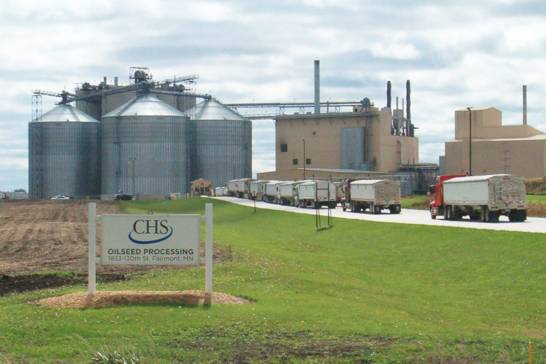CHS soybean processing plant in Fairmont, Minnesota
