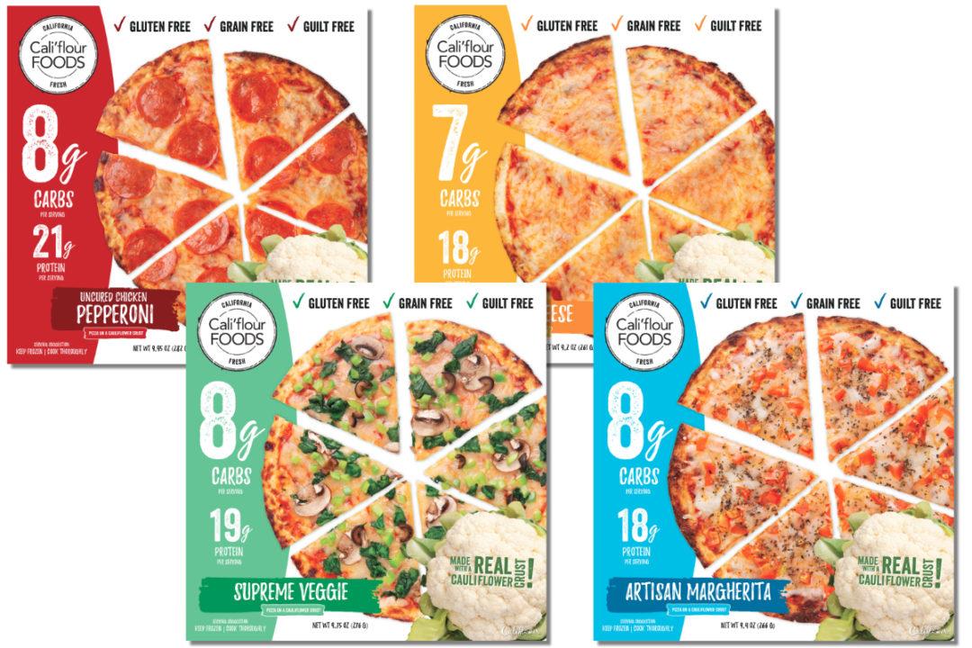 Cali'flour Foods frozen topped cauliflower crust pizzas