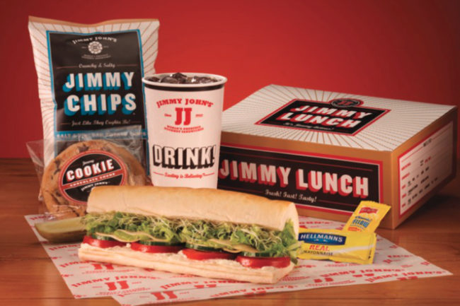 Jimmy John's lunch