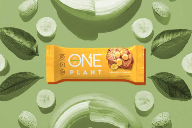 One Brands One Plant banana bread bar, Hershey