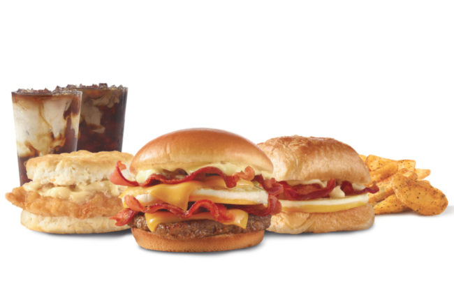 Wendy's breakfast offerings