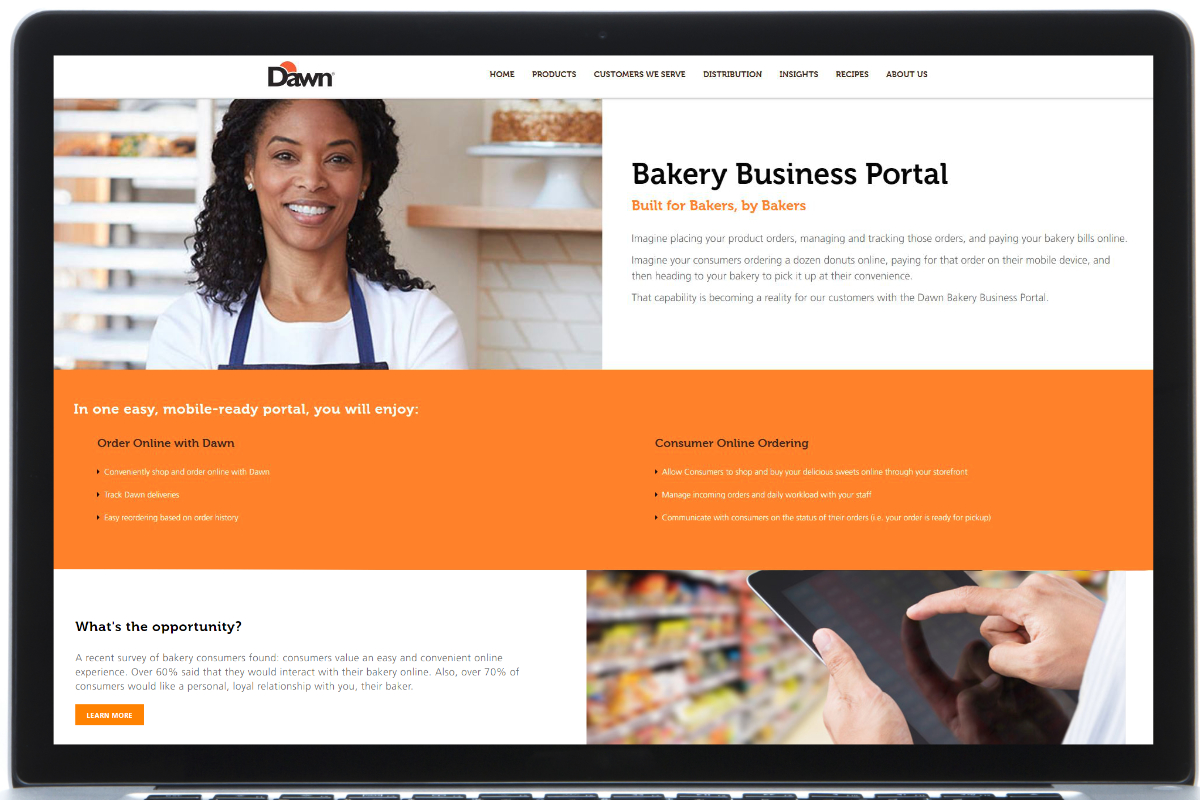 Dawn Foods digital bakery portal