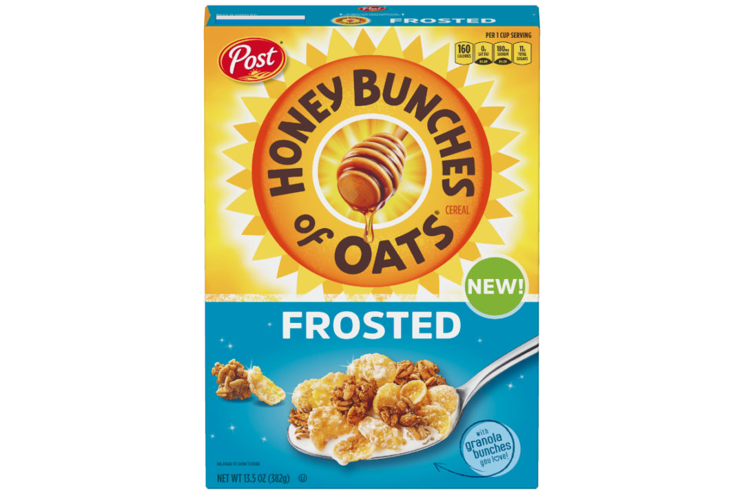 Frosted Honey Bunches of Oats cereal