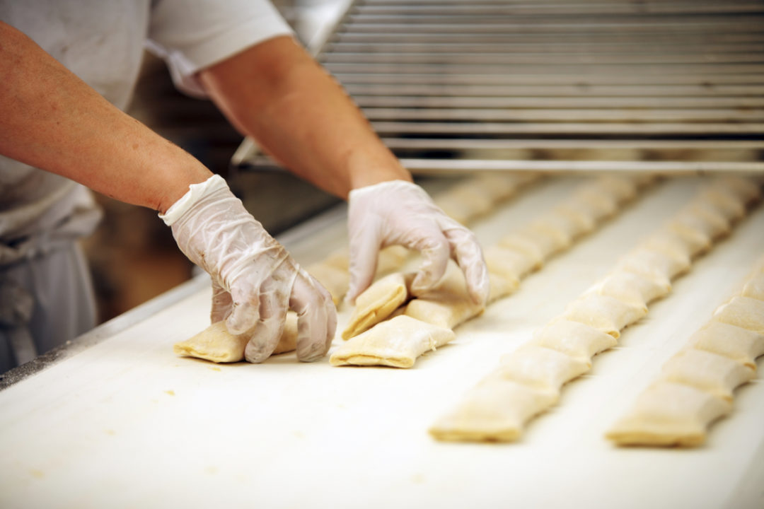 Puff pastry production