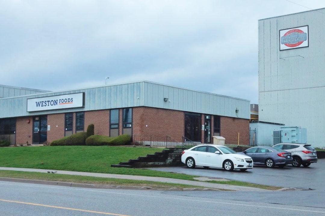 Weston Foods facility in Kingston, Ontario