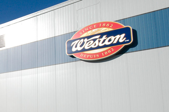 Weston Foods facility sign