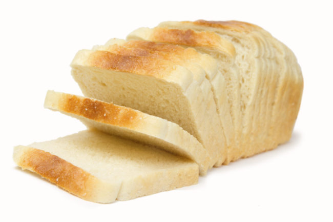 Loaf of sliced white bread
