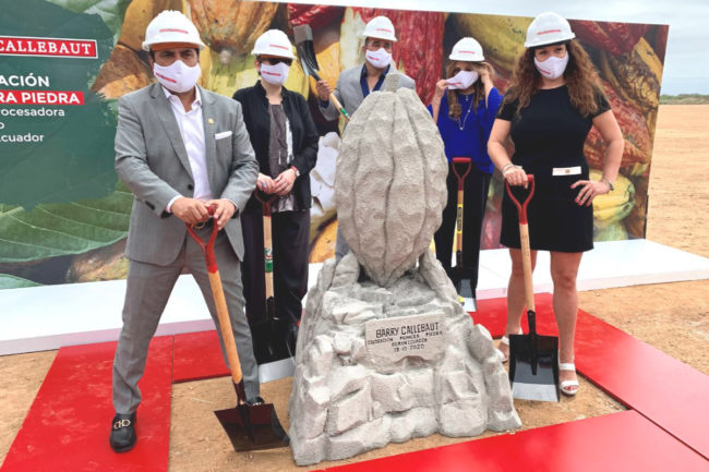 Barry Callebaut Ecuador cocoa plant groundbreaking ceremony
