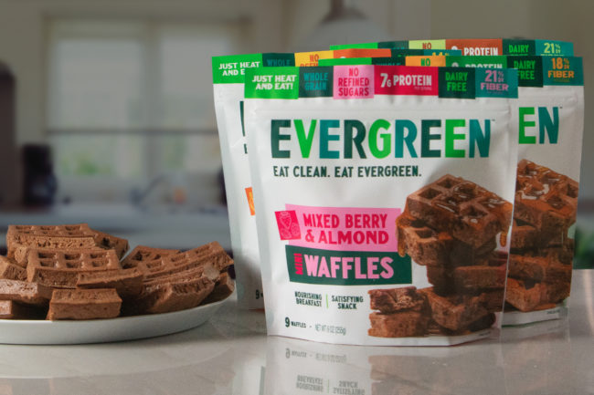 Evergreen frozen waffles
