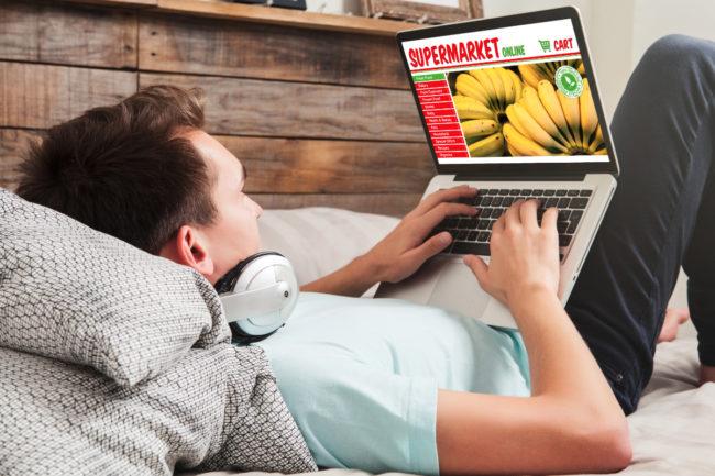 Ordering groceries online