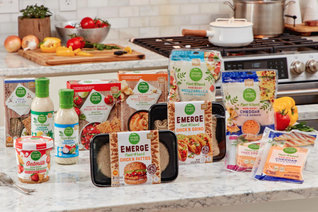 Kroger Simple Truth Plant Based products