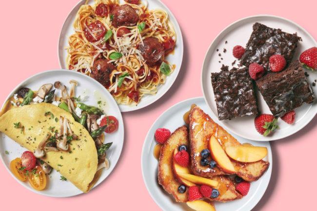 Zero Egg menu items plated