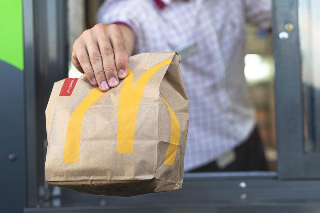 McDonald's drive-thru bag