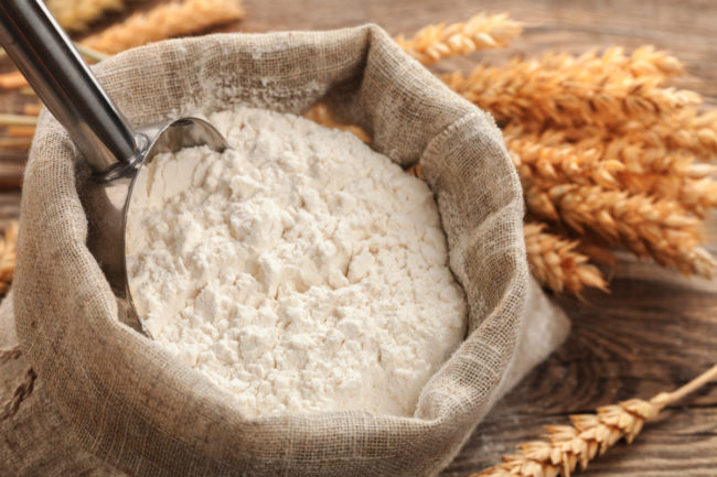 Bag of wheat flour