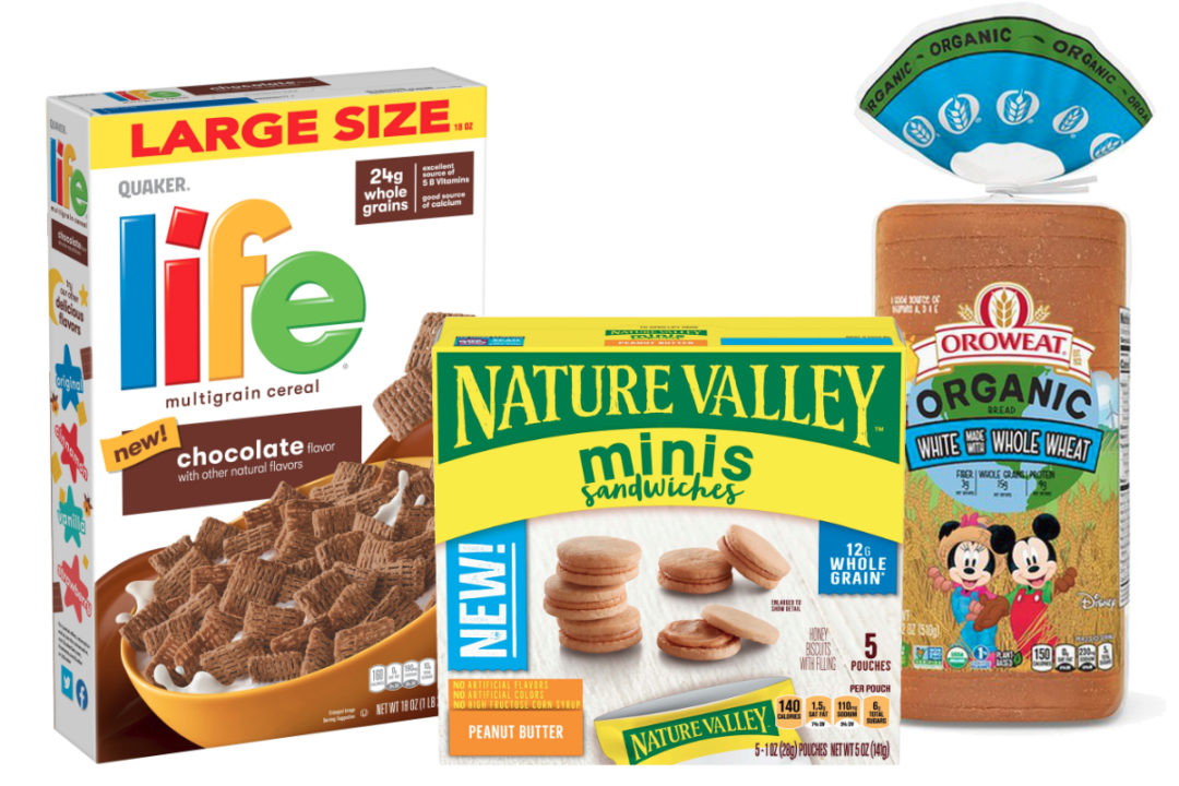 New products made with whole grains from BBU, General Mills and PepsiCo