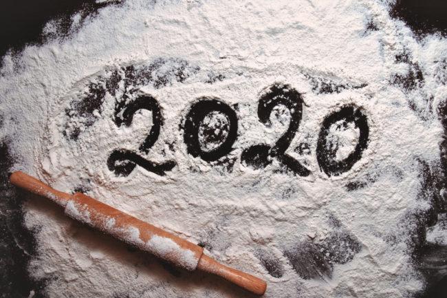 2020 written in flour