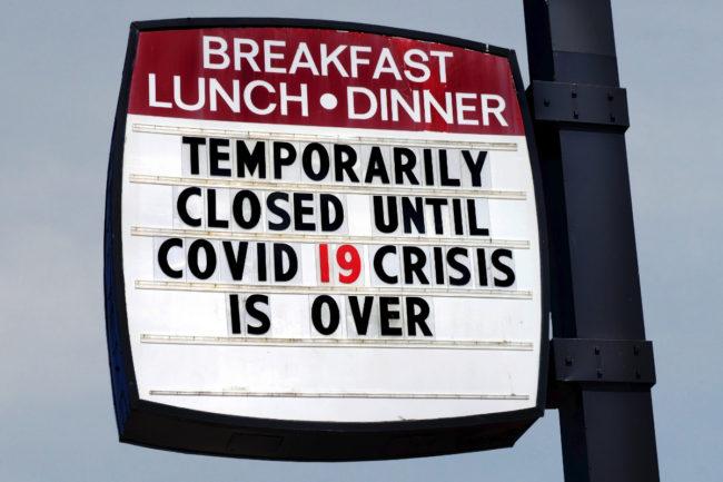 Restaurant COVID sign