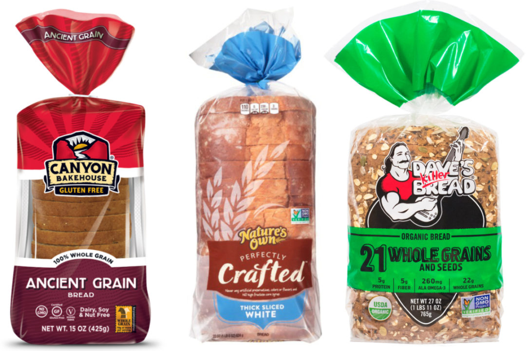 Flowers Foods Canyon Bakehouse, Dave's Killer Bread and Nature's Own Perfectly Crafted bread