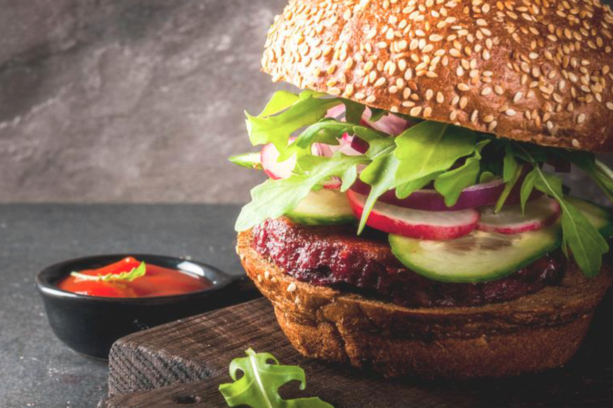 Plant-based meat alternative burger
