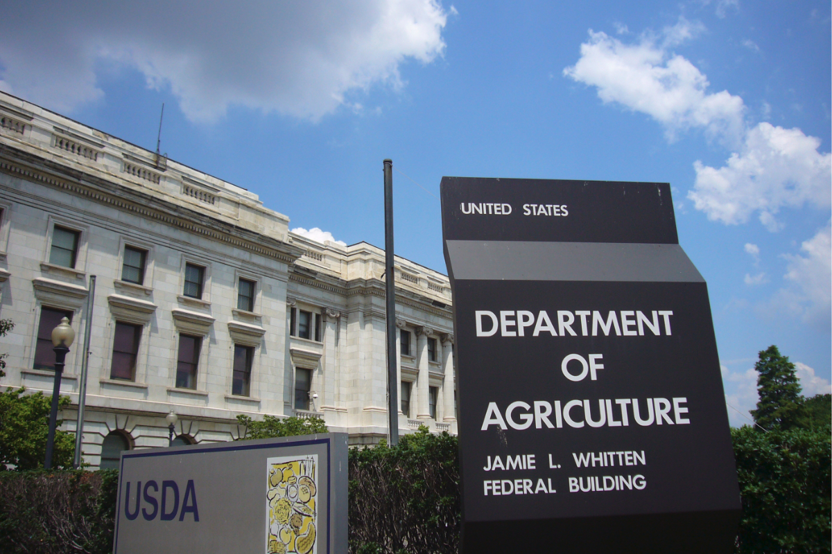 USDA building and sign
