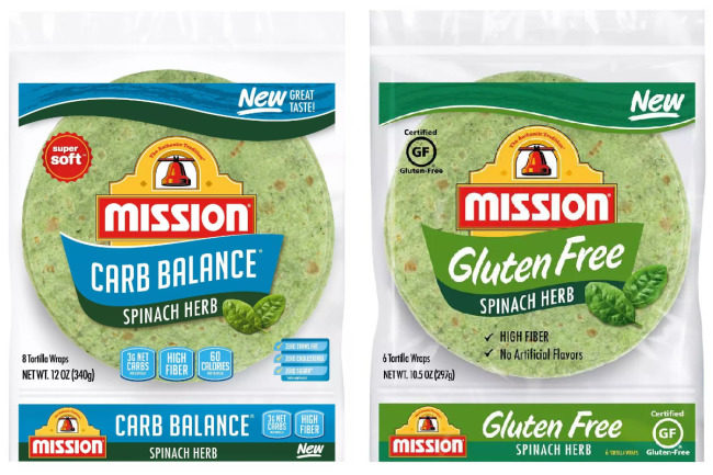 Mission Spinach Herb tortillas