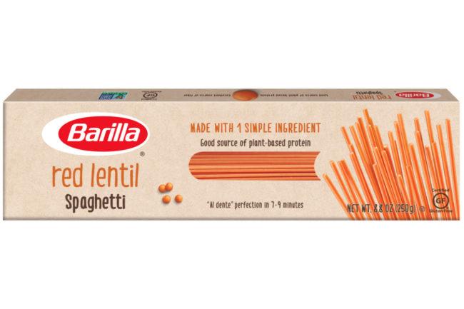 Barilla red lentil spaghetti
