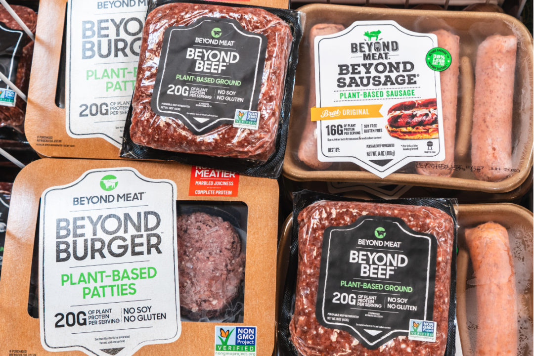 Beyond Meat plant-based meat alternatives at the supermarket